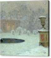 The Trianon Under Snow Acrylic Print by Henri Eugene Augustin Le Sidaner