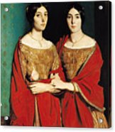 The Two Sisters Acrylic Print by Theodore Chasseriau