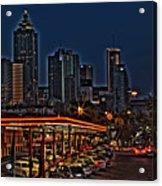 The Varsity Atlanta Acrylic Print by Corky Willis Atlanta Photography