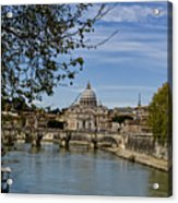 The Vatican By Day Acrylic Print by Michelle Sheppard