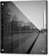 The Vietnam Veterans Memorial Washington Dc Acrylic Print by Ilker Goksen