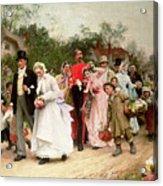 The Village Wedding Acrylic Print by Sir Samuel Luke Fildes
