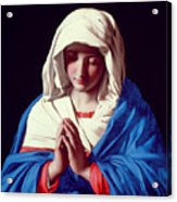 The Virgin In Prayer Acrylic Print by Il Sassoferrato
