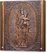 The Virgin Mary With Jesus Christ Acrylic Print by Netka Dimoska