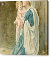 The Virgin Mary With Jesus Acrylic Print by John Lawson
