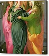 The Visitation Acrylic Print by Jacopo Pontormo