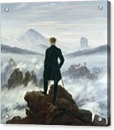 The Wanderer Above The Sea Of Fog Acrylic Print by Caspar David Friedrich