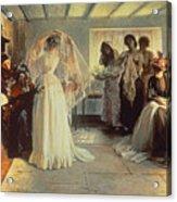 The Wedding Morning Acrylic Print by John Henry Frederick Bacon