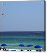 The White Panama City Beach - Before The Oil Spill Acrylic Print by Susanne Van Hulst