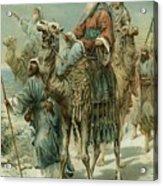 The Wise Men Seeking Jesus Acrylic Print by Ambrose Dudley