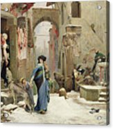 The Wolf Of Gubbio Acrylic Print by Luc Oliver Merson