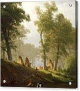 The Wolf River - Kansas Acrylic Print by Albert Bierstadt