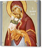 Theotokos Pelagonitisa Acrylic Print by Julia Bridget Hayes