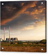 Thermoelectrical Plant Acrylic Print by Carlos Caetano