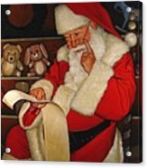 Thoughtful Santa Acrylic Print by Doug Strickland
