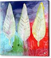 Three Leaves Of Good Acrylic Print by Linda Woods
