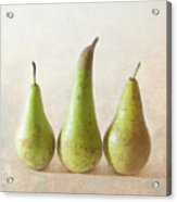 Three Pears Acrylic Print by Peter Chadwick LRPS