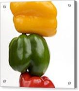 Three Peppers Acrylic Print by Bernard Jaubert