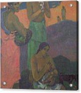 Three Women On The Seashore Acrylic Print by Paul Gauguin