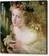 Thus Your Fairy's Made Of Most Beautiful Things Acrylic Print by Sophie Anderson