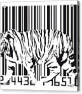 Tiger Barcode Acrylic Print by Michael Tompsett