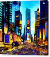 Times Square Acrylic Print by Andrea Meyer