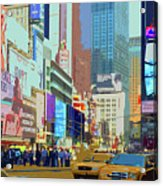 Times Square New York Acrylic Print by Russ Harris