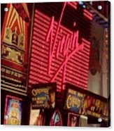 Times Square Night Acrylic Print by Debbi Granruth