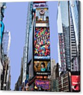 Times Square Nyc Acrylic Print by Kelley King