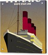 Titanic Ocean Liner Acrylic Print by Michael Tompsett