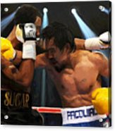 Title Bout Acrylic Print by Snake Jagger