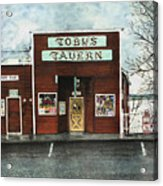 Toby's Acrylic Print by Perry Woodfin