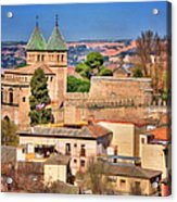Toledo Town View Acrylic Print by Joan Carroll