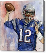 Tom Brady Acrylic Print by Michael  Pattison