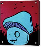 Toothed Zombie Mushroom Acrylic Print by Jera Sky