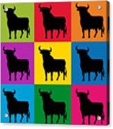 Toro Pop Art Acrylic Print by Michael Tompsett