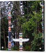 Totem Poles Acrylic Print by Will Borden