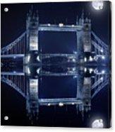 Tower Bridge In London By Night  Acrylic Print by Jaroslaw Grudzinski