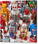 Toy Robots Acrylic Print by Garry Gay