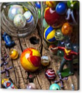 Toys And Marbles Acrylic Print by Garry Gay