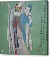 Tr 004 Hightest-ranking Imperia Concubine Of Temulentia Acrylic Print by Ling Wang