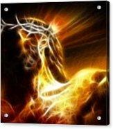 Tragic Jesus Crucifixion Acrylic Print by Pamela Johnson