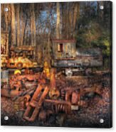 Train - Yard - Do It Yourself Kit Acrylic Print by Mike Savad