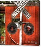 Train - Yard - Railroad Crossing Acrylic Print by Mike Savad