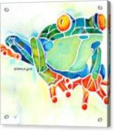 Tree Frog In Greens Acrylic Print by Jo Lynch