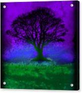 Tree Of Life - Purple Sky Acrylic Print by Robert R Splashy Art