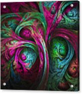 Tree Of Life-pink And Blue Acrylic Print by Tammy Wetzel