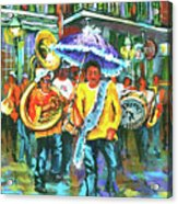 Treme Brass Band Acrylic Print by Dianne Parks