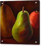 Tri Pear Acrylic Print by Shannon Grissom