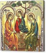 Trinity After Rubliov Acrylic Print by Iosif Ioan Chezan